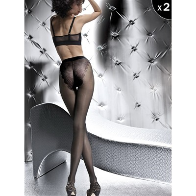 Klara - Lot de 2 collants classique 20 deniers - noir