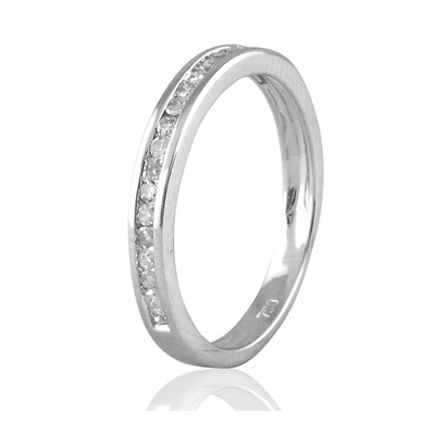 Carashop Demi tour diamants - bague - blanc