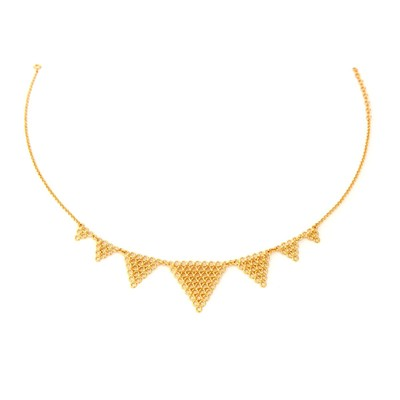 Agnès de verneuil jali - collier en vermeil triangles - or