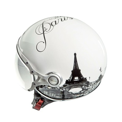 EXKLUSIV Paris Freeway - Casque moto jet - blanc