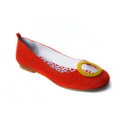 Cyrcles - Ballerine en cuir - orange