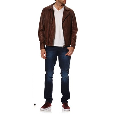 OAKWOOD Veste en cuir - marron
