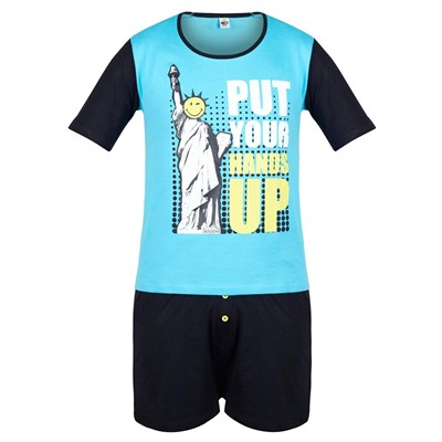 POMM'POIRE Hands Up - Pyjama - bleu