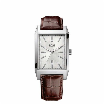 HUGO BOSS Montre en cuir - marron