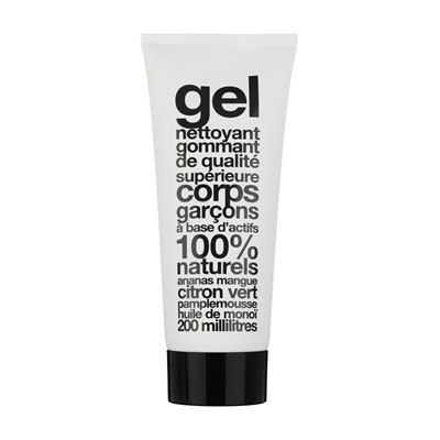 Gel nettoyant gommant corps - blanc