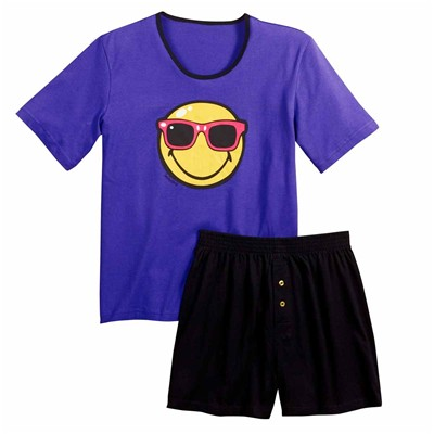 POMM'POIRE Night by Smiley - Ensemble pyjama court - violet