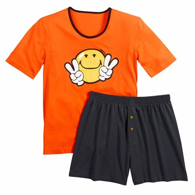 POMM'POIRE Night by Smiley - Ensemble pyjama court - orange