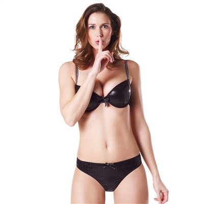 POMM'POIRE Night Fever - Soutien-gorge push-up - gris