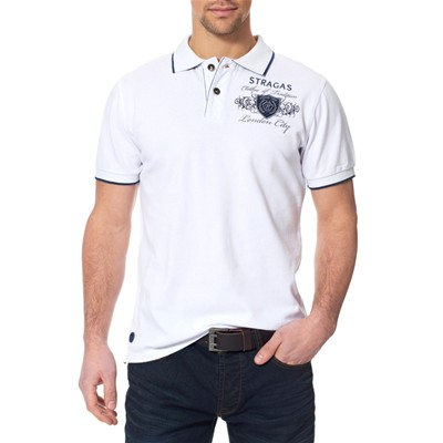 Paul Stragas Polo - blanco