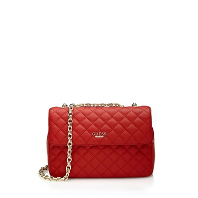 GUESS Suave Crossbody Flap - Petite maroquinerie - rouge