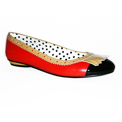 London Girl - Ballerines Cuir - rouge