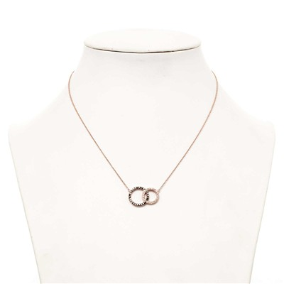 Bi Circles Crystal - Collier avec Swarovski® Elements - rose