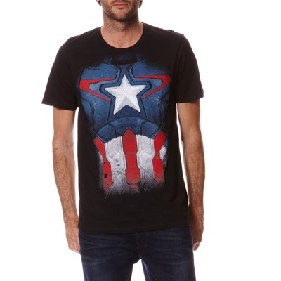 Captain America - T-shirt - noir
