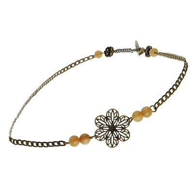 Art Nouveau - Headdband ou collier - pierres taupes