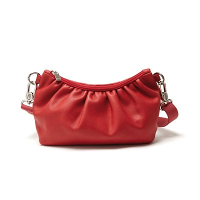 Sac à main femme pochette en cuir Made in France - rouge