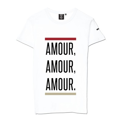 QUATRE CENT QUINZE Amour - T-shirt - blanc