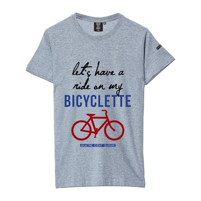 QUATRE CENT QUINZE Bicyclette - T-shirt - gris