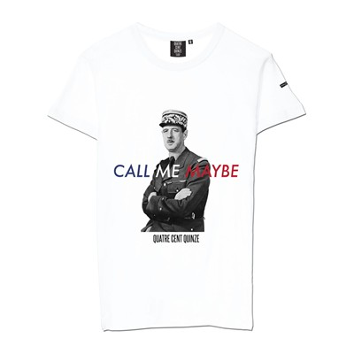 QUATRE CENT QUINZE Call me maybe - T-shirt - blanc