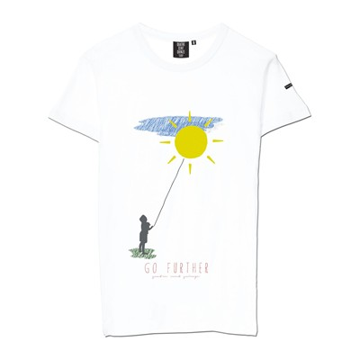 QUATRE CENT QUINZE Go Further - T-shirt - blanc