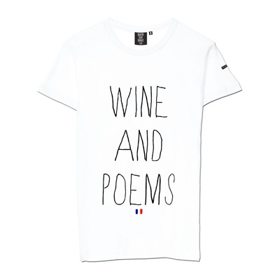 QUATRE CENT QUINZE Wine and Poems - T-shirt - blanc