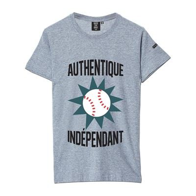 QUATRE CENT QUINZE Authentique et Indépendant - T-shirt - gris