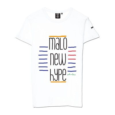 QUATRE CENT QUINZE Malo New Hype - T-shirt - blanc