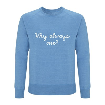 QUATRE CENT QUINZE Why Always Me? - Sweat-shirt - bleu ciel