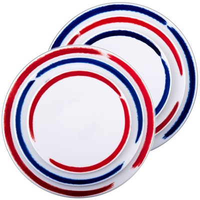 SITE COROT Artwork - 2 sets de 3 assiettes en Porcelaine de Limoges - multicolore