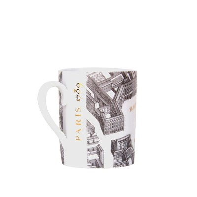 SITE COROT Place Vendome - Mug Porcelaine de Limoges - blanc