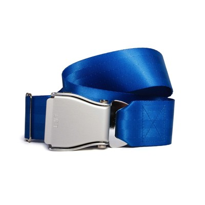 FLY BELTS Ceinture d'Avion - Ceinture à sangle coulissante - bleu
