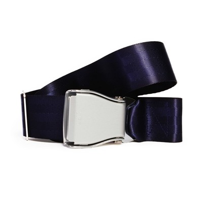 FLY BELTS Ceinture d'Avion - Ceinture à sangle coulissante - bleu marine
