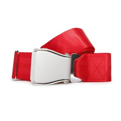 FLY BELTS Ceinture d'Avion - Ceinture à sangle coulissante - rouge