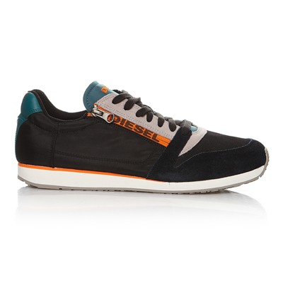 DIESEL Black Jake Slocker S - Baskets avec empiècements en cuir - anthracite