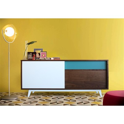 Buffet vintage noyer massif - Buffet - multicolore