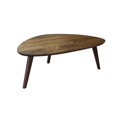 Table basse vintage forme libre tripode - Table basse - marron
