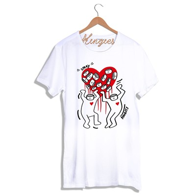 KINGIES LOVE SPRAY - T-shirt - blanc