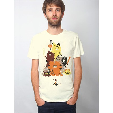 MONSIEUR POULET Cat Crew - T-shirt - beige