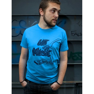 MONSIEUR POULET Eat Music - T-shirt - bleu
