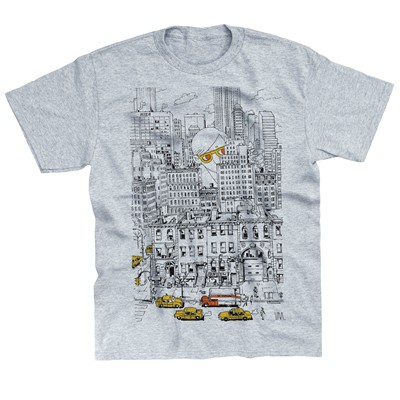 MONSIEUR POULET NY - T-shirt - gris chine