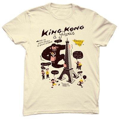 MONSIEUR POULET Kong in Paris - T-shirt - beige