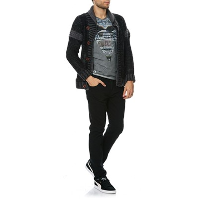 HOPE N LIFE Gregory - Gilet - denim noir