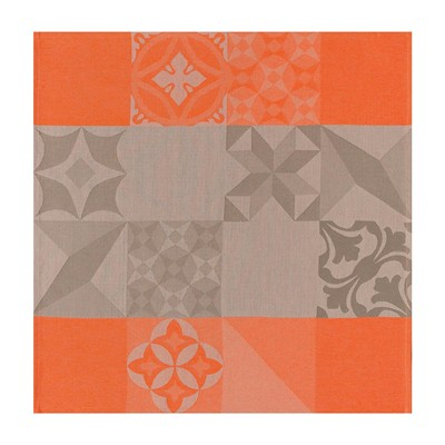 LE JACQUARD FRANÇAIS Demeure en ville Grès - Serviette de Table - orange