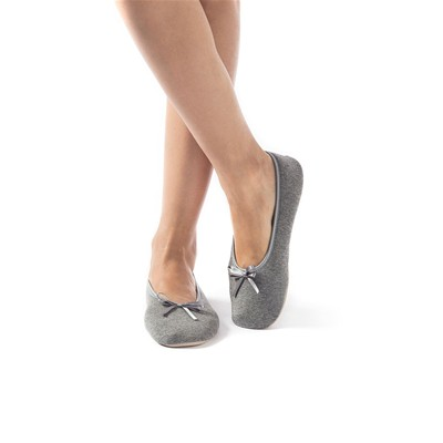 Chaussons ballerines - gris