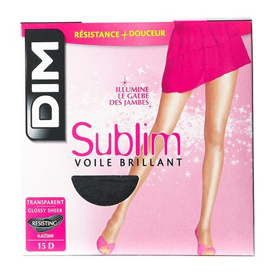 Sublim - Collant voile brillant - noir