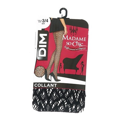 DIM COLLANT Madame so Chic - Collant fantaisie - noir