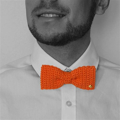 ACROCHET'MOI Charmeur - Noeud papillon - orange