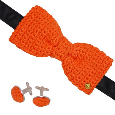 ACROCHET'MOI Charmeur - Noeud papillon boutons - orange