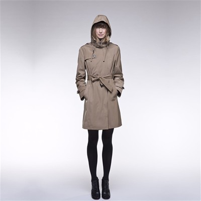 TRENCH AND COAT BABADA - Trench zippé à capuche - beige