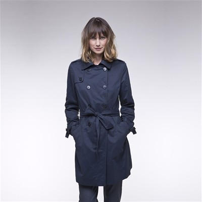 TRENCH AND COAT SACHA - Trench mi-long - bleu marine