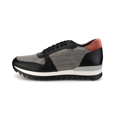 Abigail Abi fit - baskets chevron noir